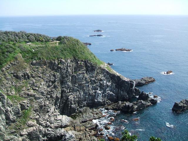 足摺岬の崖