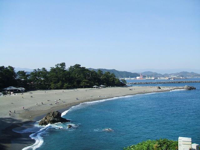 桂浜の浜辺