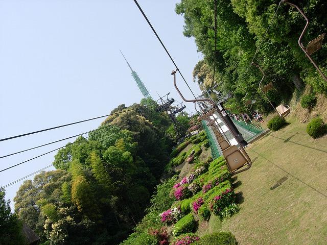 松山城へのロープウェイ