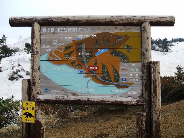 蔵王の看板 登山コース
