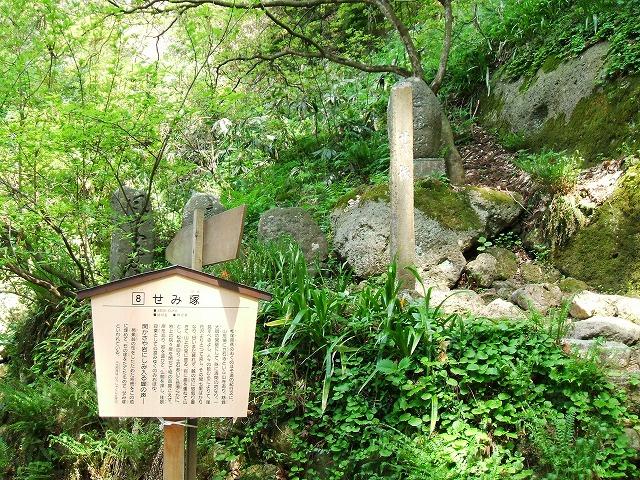 山寺のせみ塚