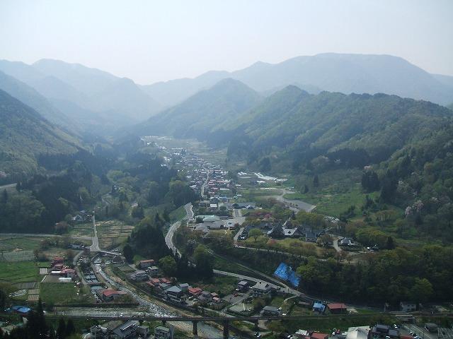 山寺の五大堂からの風景