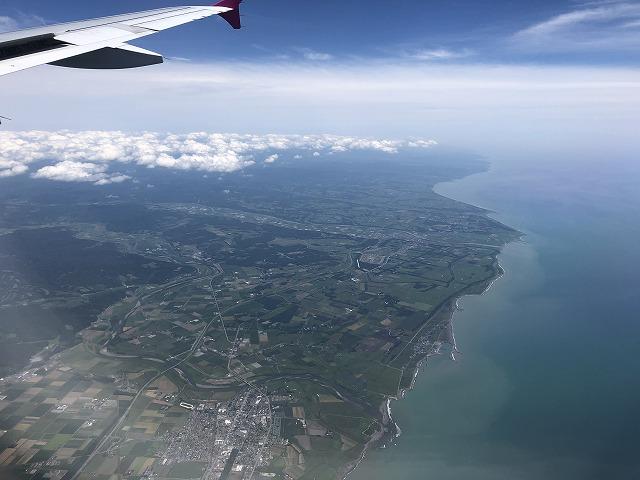 飛行機 北海道に上陸