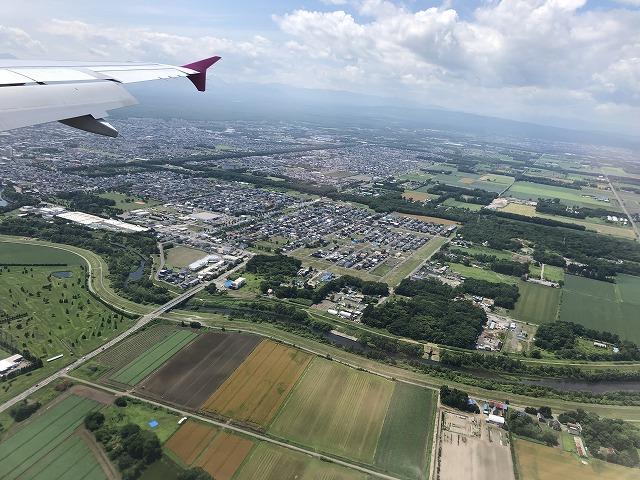 上空からの北海道の市街地
