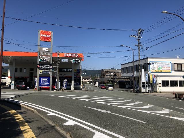 阿蘇神社入口の交差点