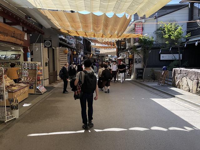 宮島の商店街