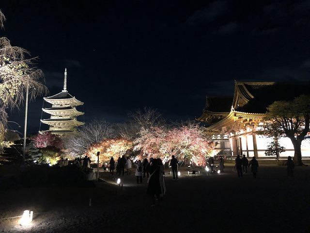 東寺の境内